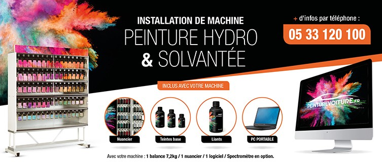 Installation machine hydro et solvant